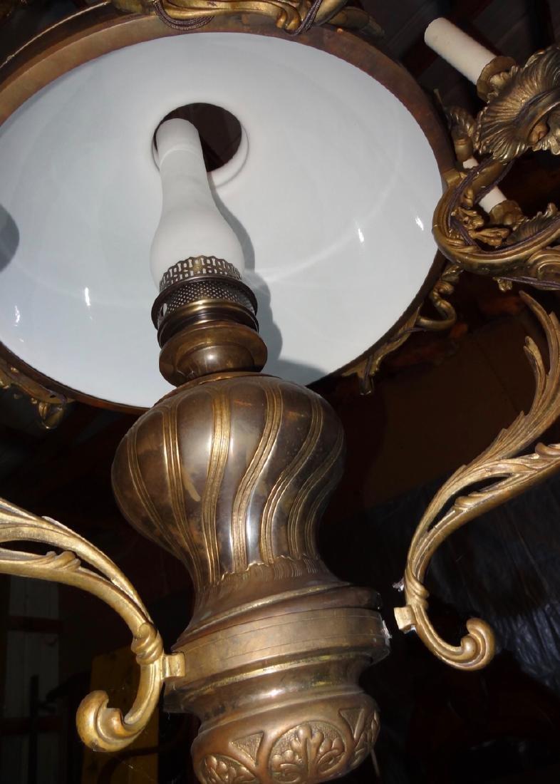 Large Bronze 8 Arm Hanging Fixture - 2
