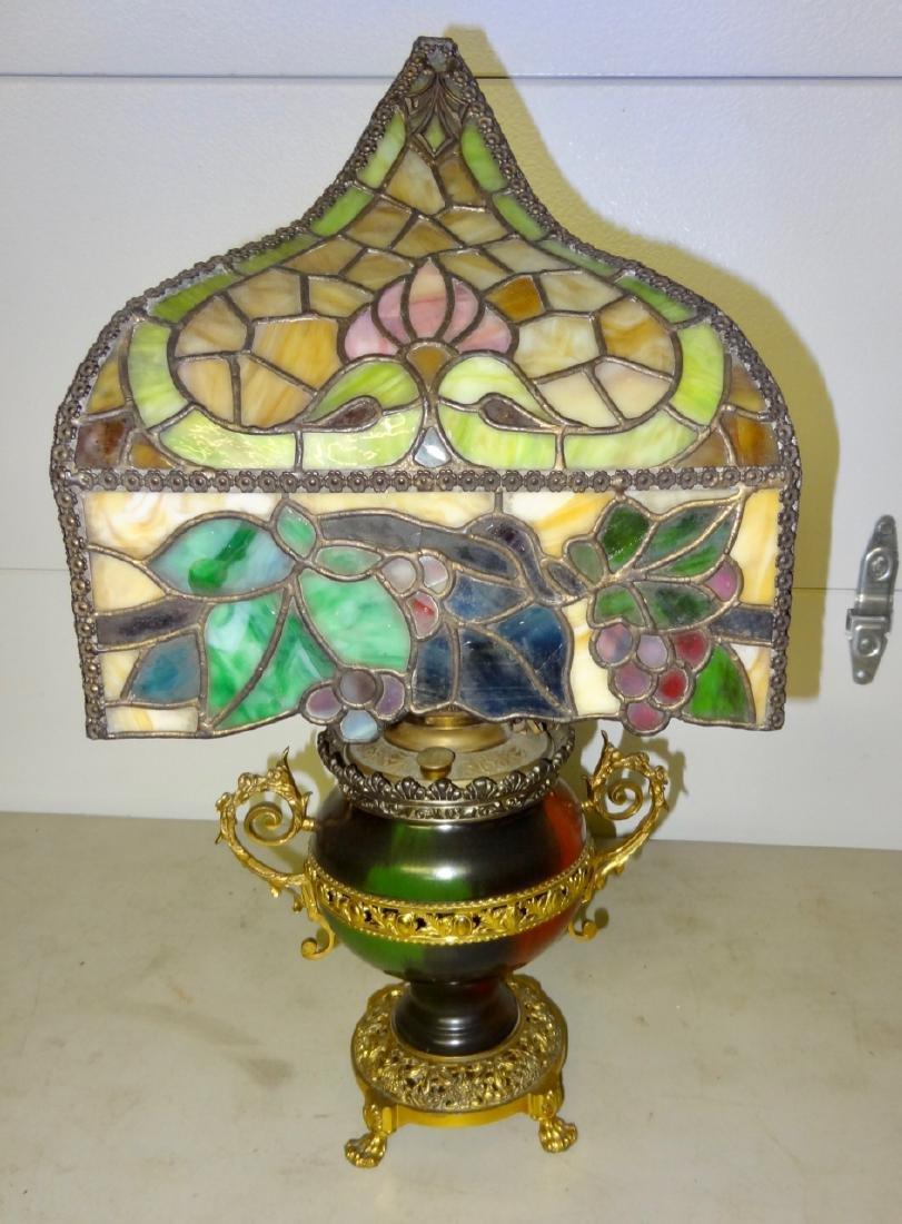 Rare Parker Kerosene Banquet Lamp