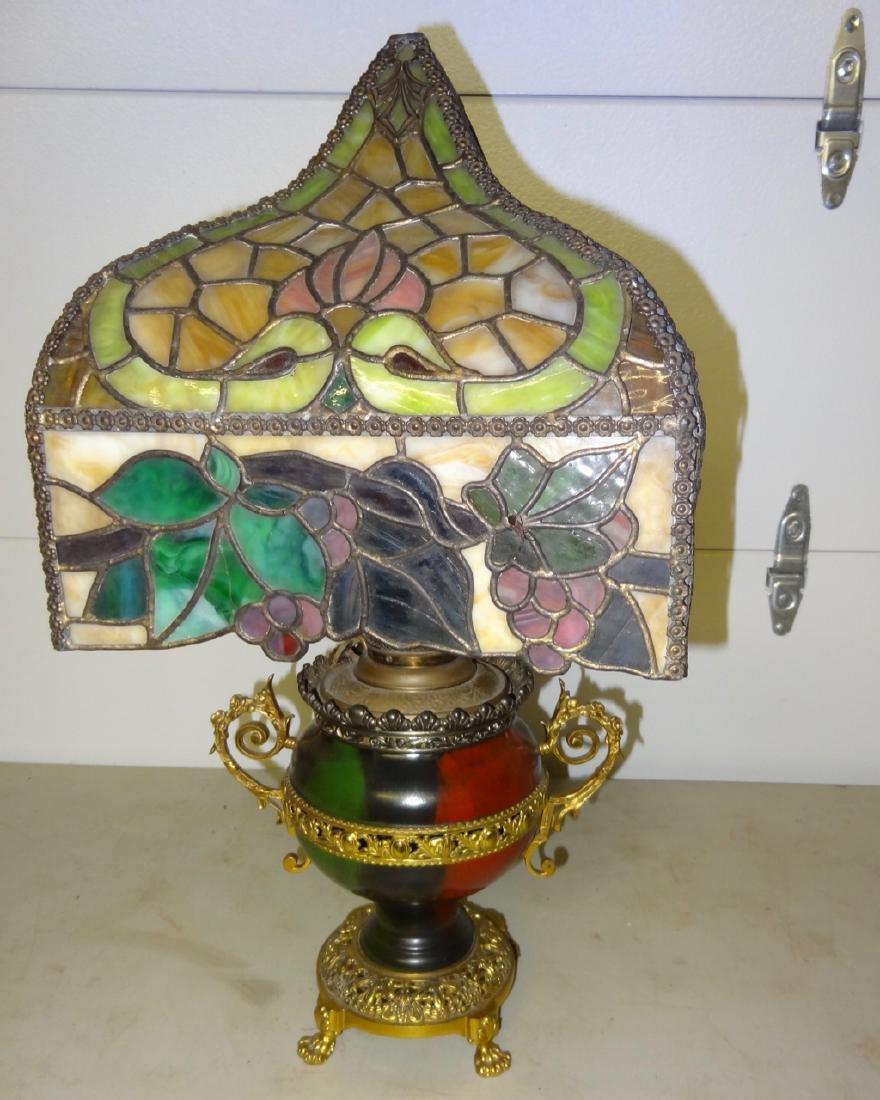 Rare Parker Kerosene Banquet Lamp - 7