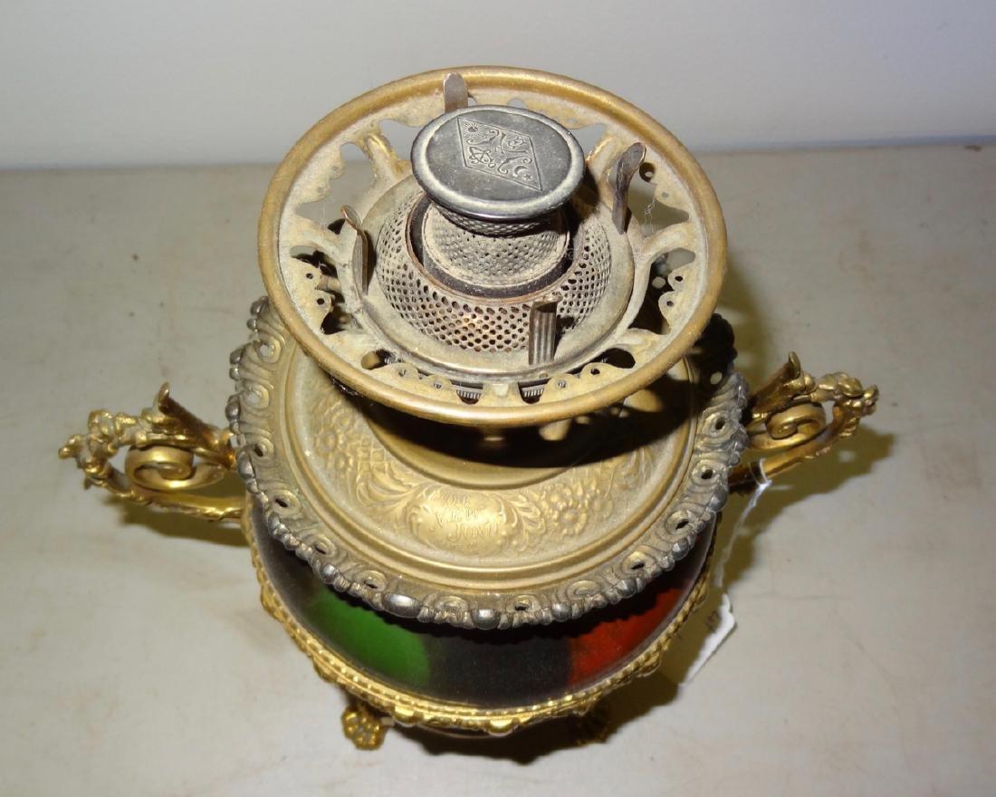 Rare Parker Kerosene Banquet Lamp - 8