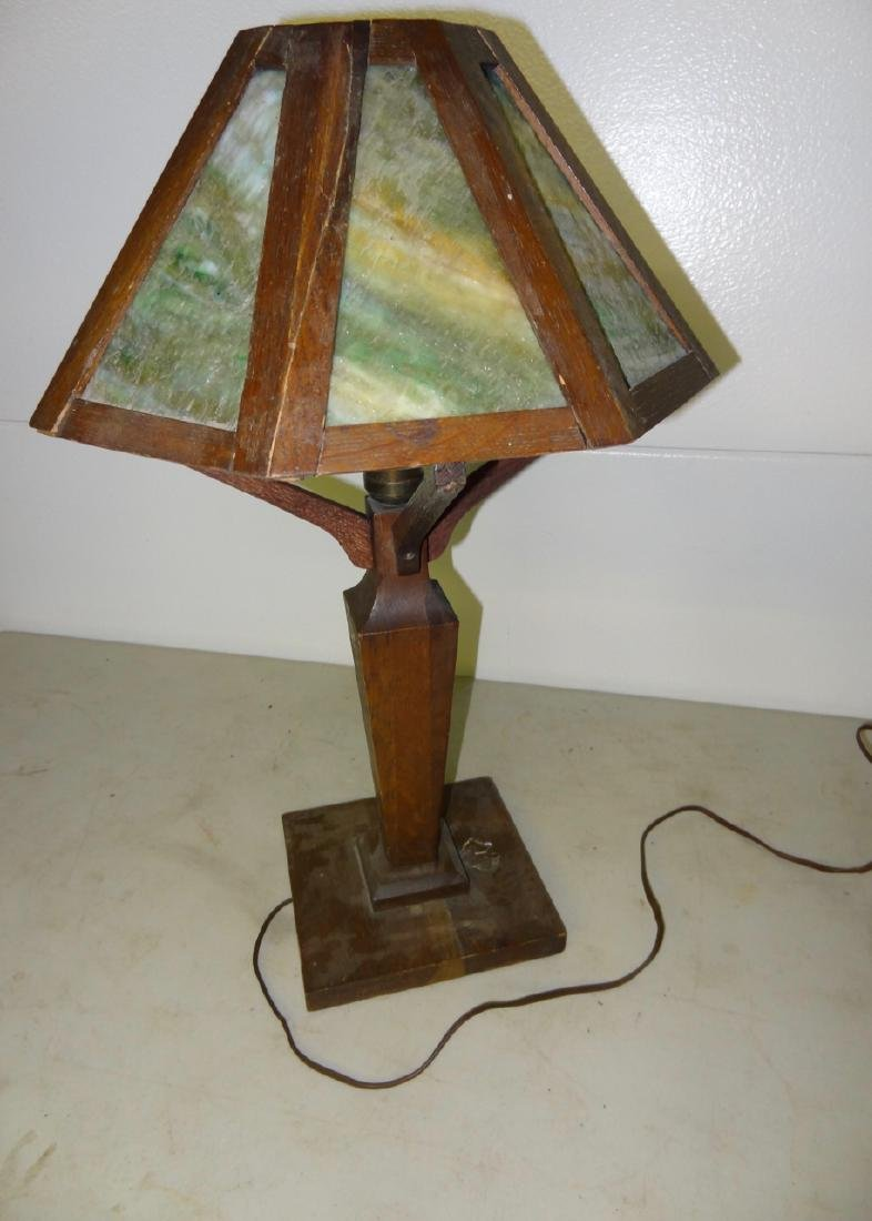 Mission Oak Table Lamp