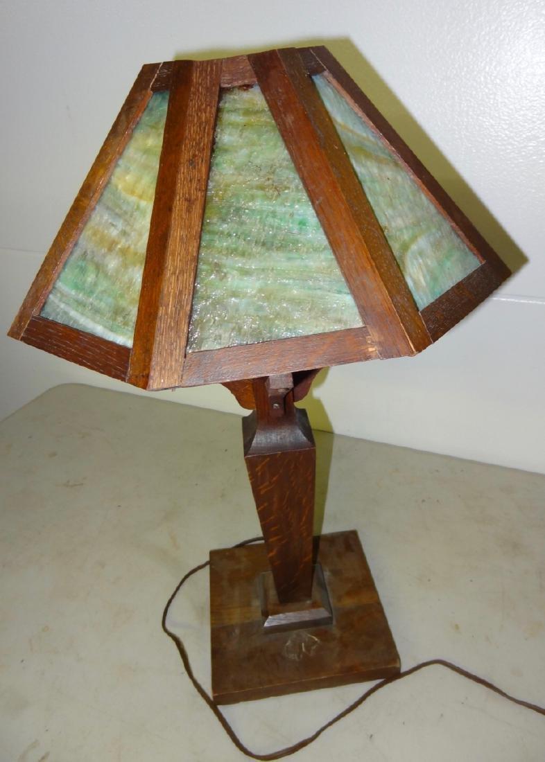 Mission Oak Table Lamp - 2