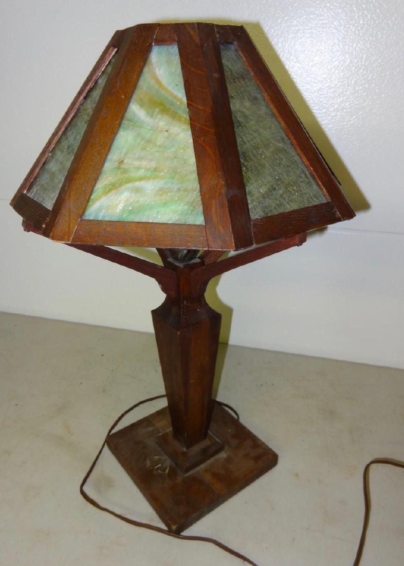 Mission Oak Table Lamp - 3