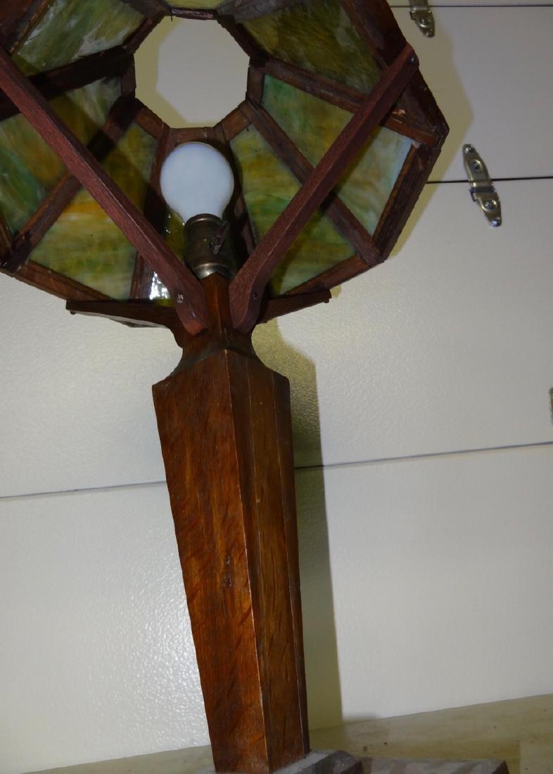 Mission Oak Table Lamp - 4