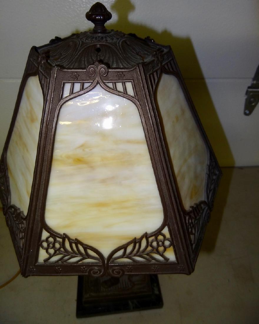 Figural Slag Glass Lamp - 2