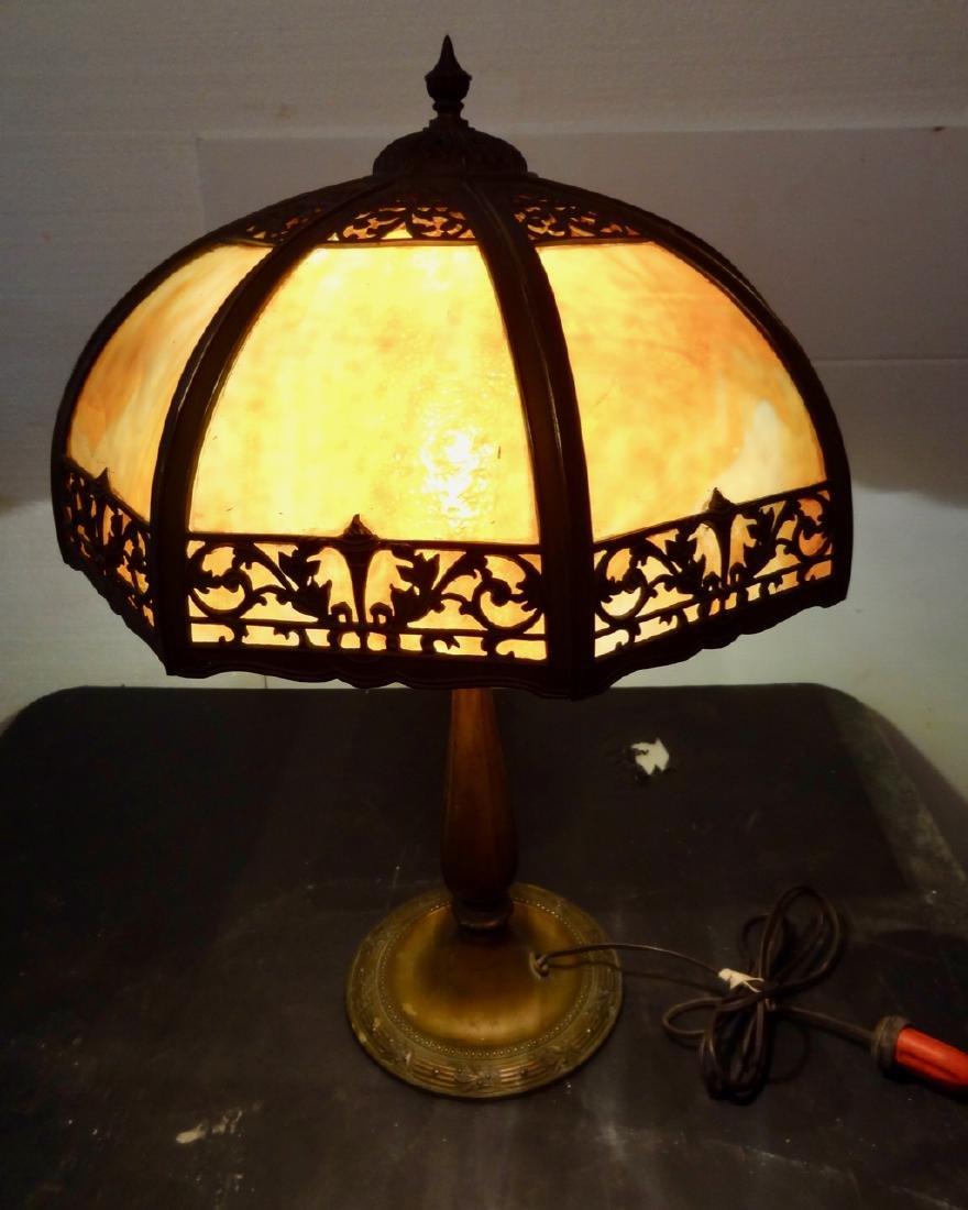 Carmel Slag Panel Lamp