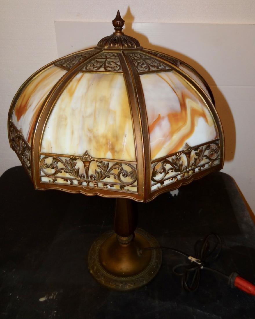 Carmel Slag Panel Lamp - 2
