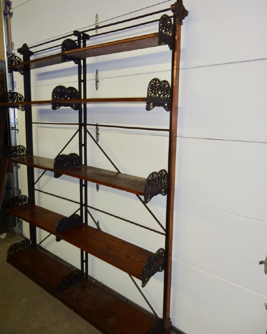 Rare Globe Wernicke Library Cast Iron Shelving - 2