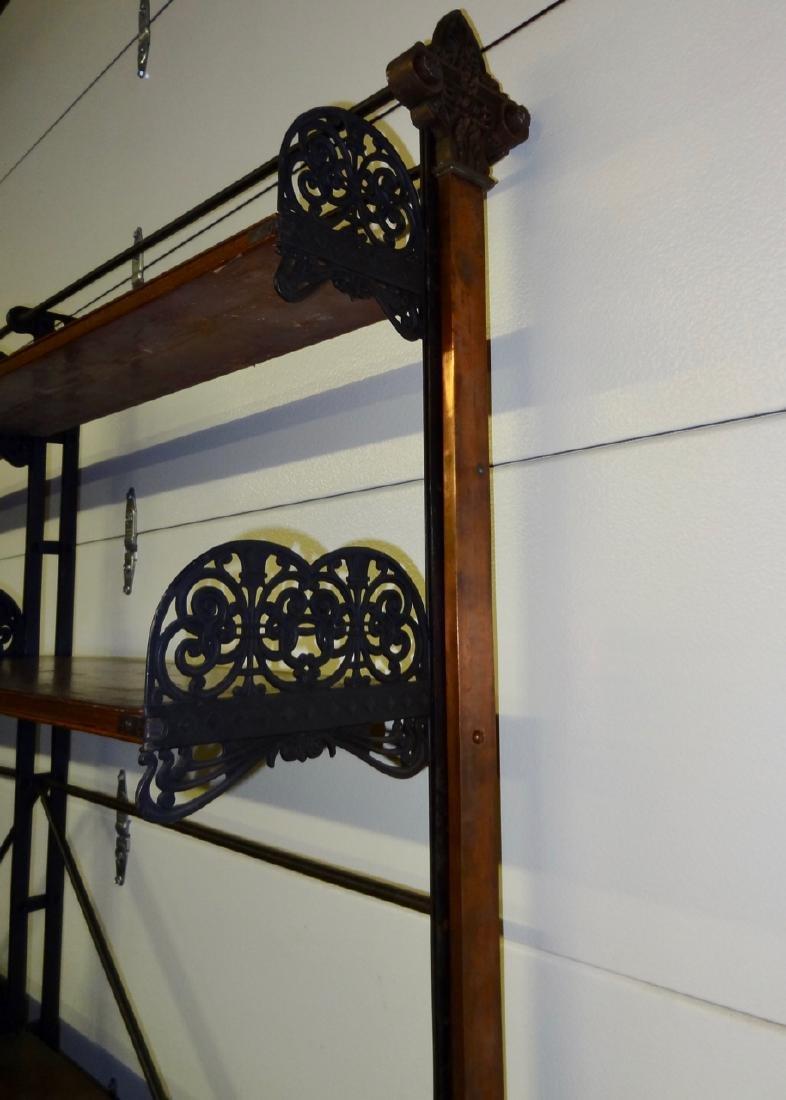 Rare Globe Wernicke Library Cast Iron Shelving - 4