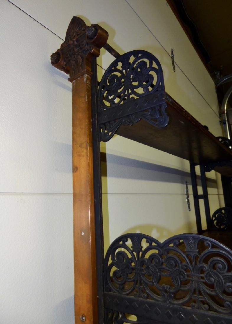 Rare Globe Wernicke Library Cast Iron Shelving - 5