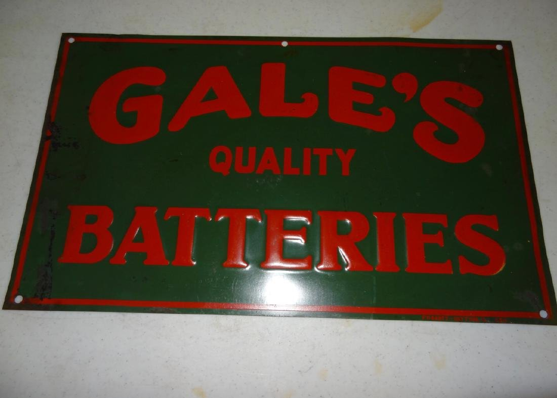 Gale's Batteries Sign