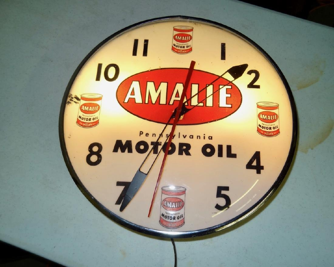 Amalie Motor Oil Clock
