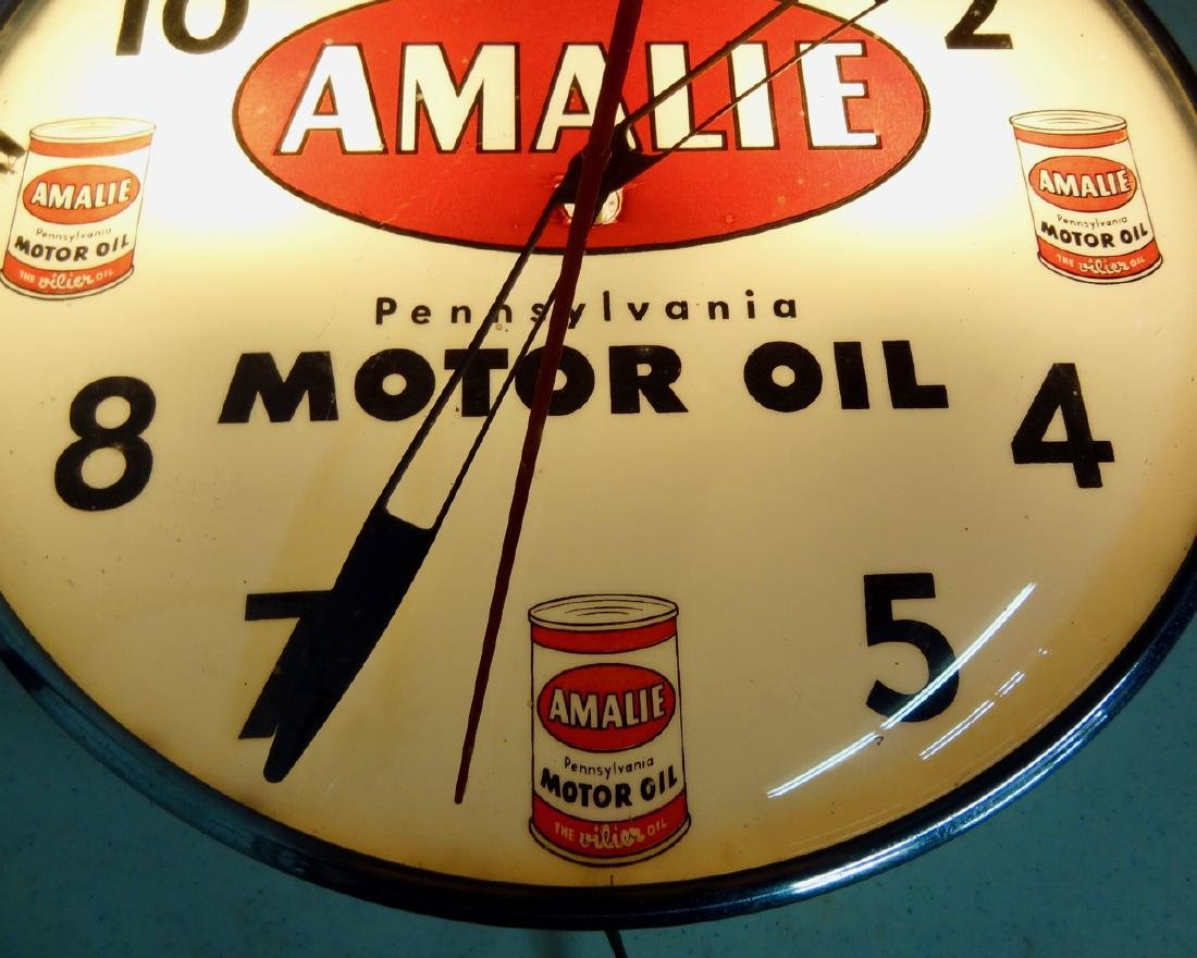 Amalie Motor Oil Clock - 2