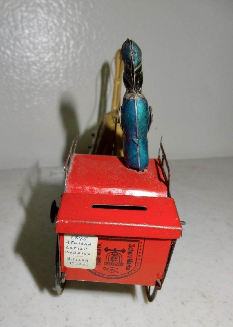 Early German Tin Cart also a Bank - 2