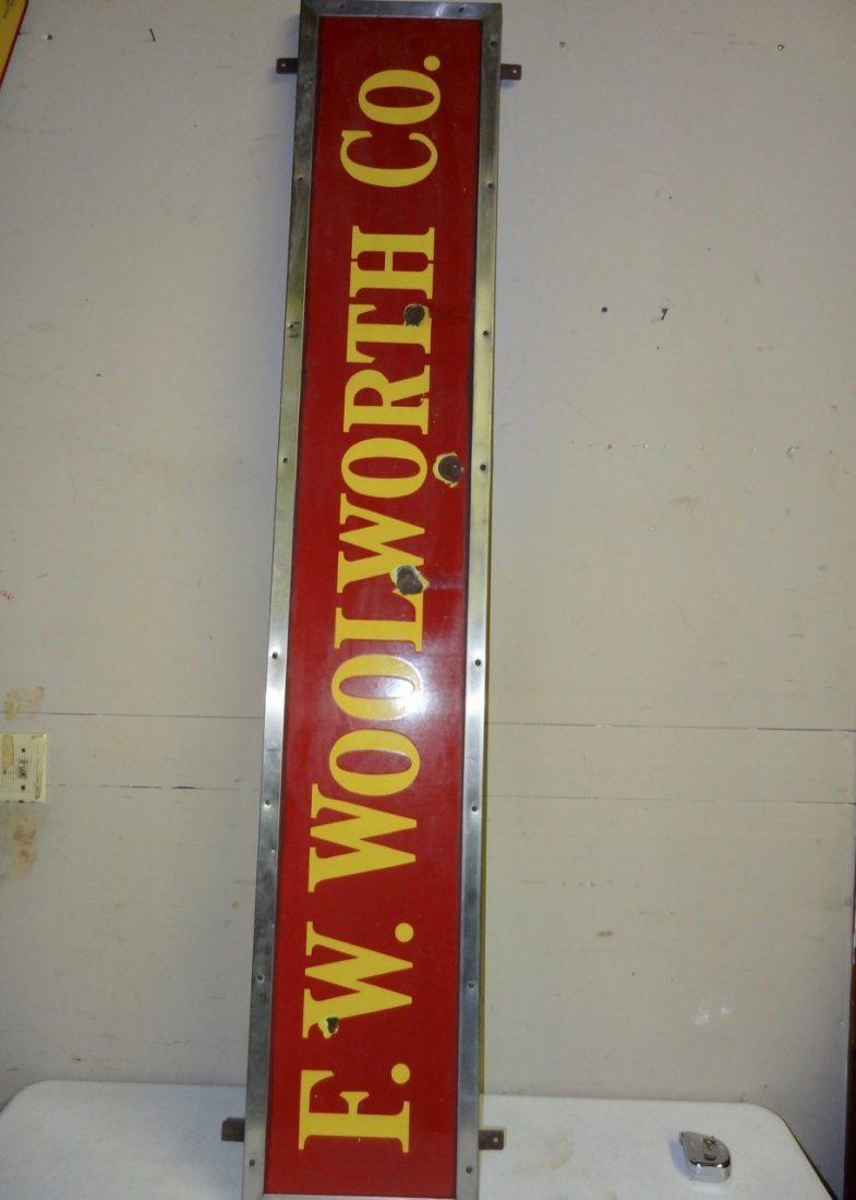 Woolworth Co. Porcelain Sign