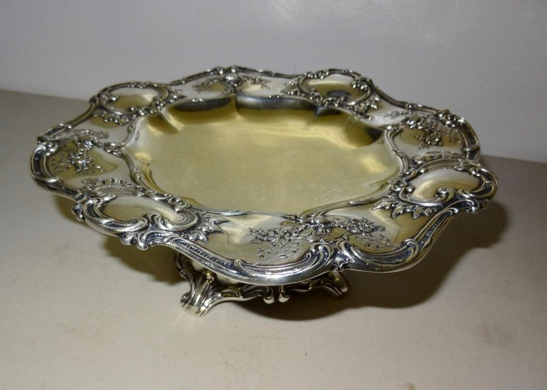 Heavily Embossed Sterling Compote
