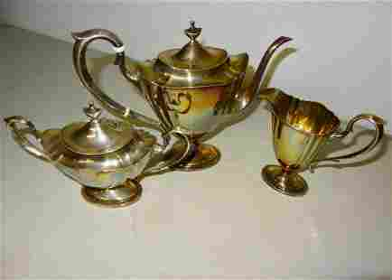 3 Pc Sterling Tea Set