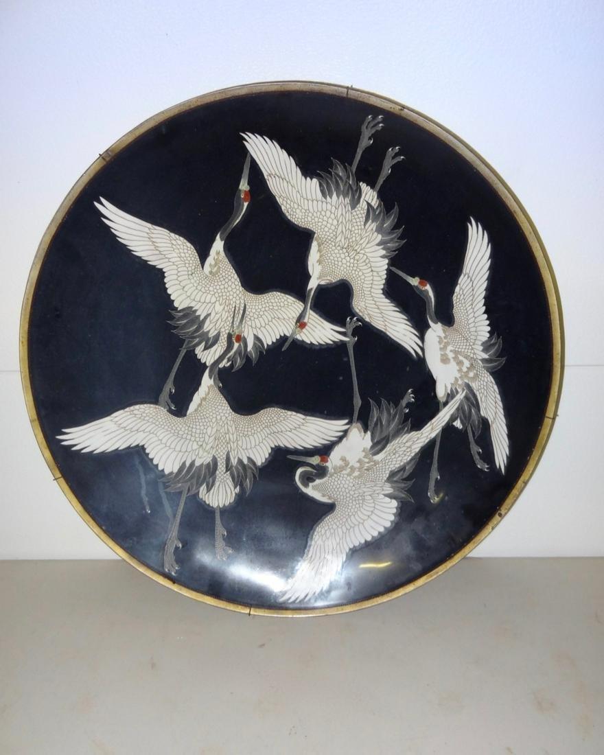 Large Cloisonne' Charger w/Birds