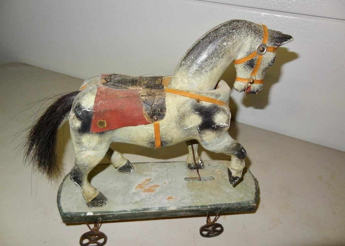 Early Wooden Horse Pull Toy