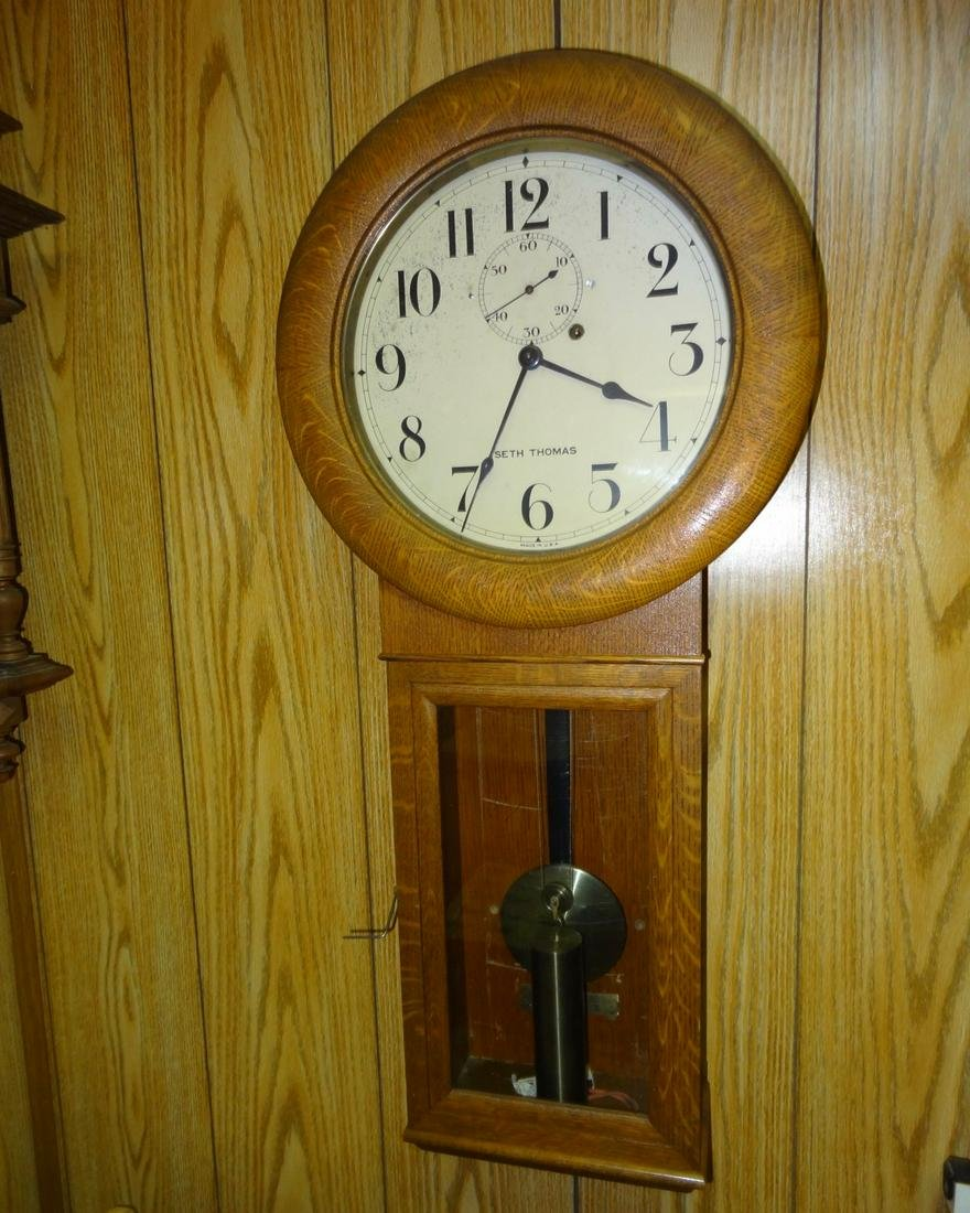Oak 1 Weight Seith Thomas Wall Clock
