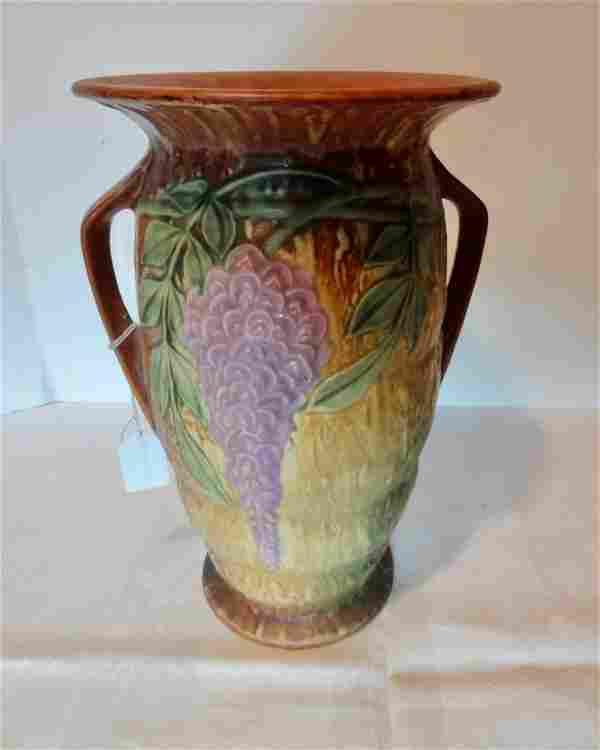 Large, Signed Roseville Vase