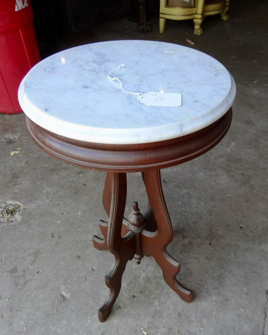 Round Victorian top Marble Table