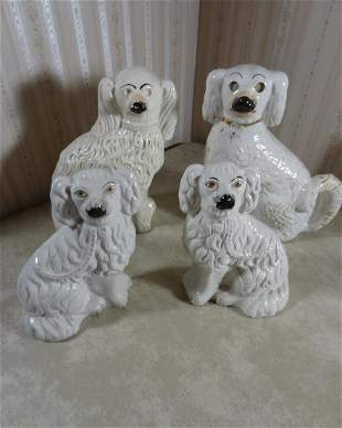 2 Sets of Staffordshire Dogs