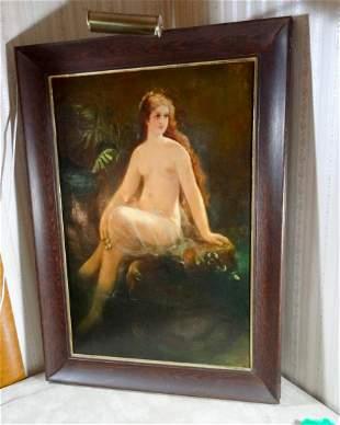 Lg Nude Framed OAC