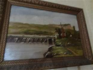 Oil on Canvas dike scene
