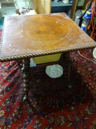 Ornate Oak Barley twist Parlor Table