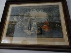 Large Currier & Ives lithograph