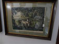 Large framed Currier & Ives Lithograph