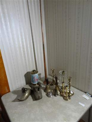 Large lot of brass etc