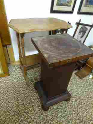 Mahogany plant stand Vict Sewing table