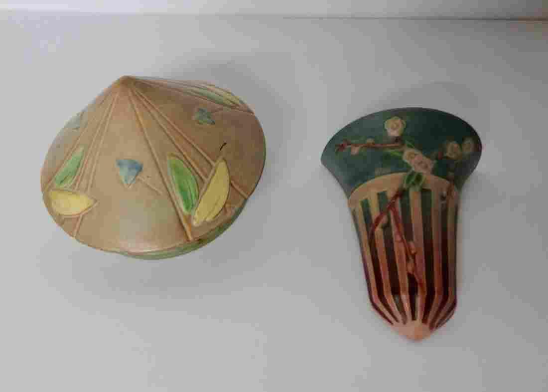 2 Pcs. Of Roseville Pottery