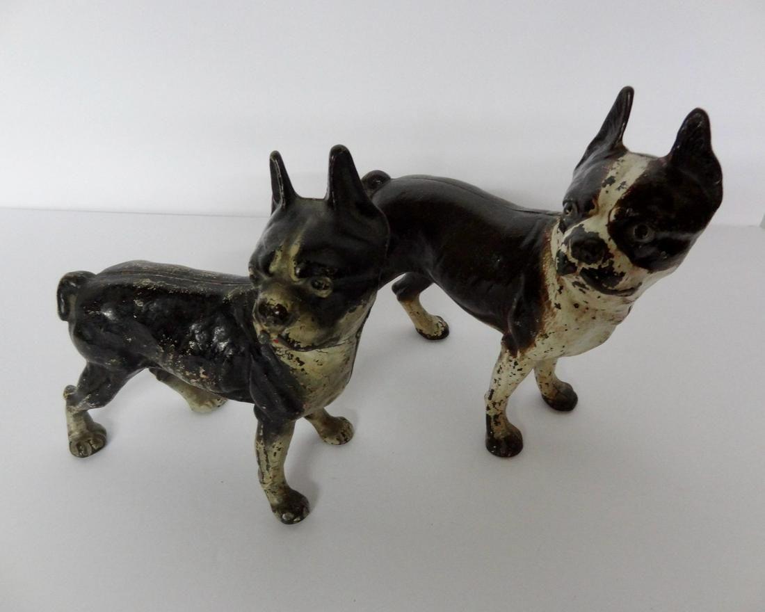 2 Cast Iron Bulldog Doorstops