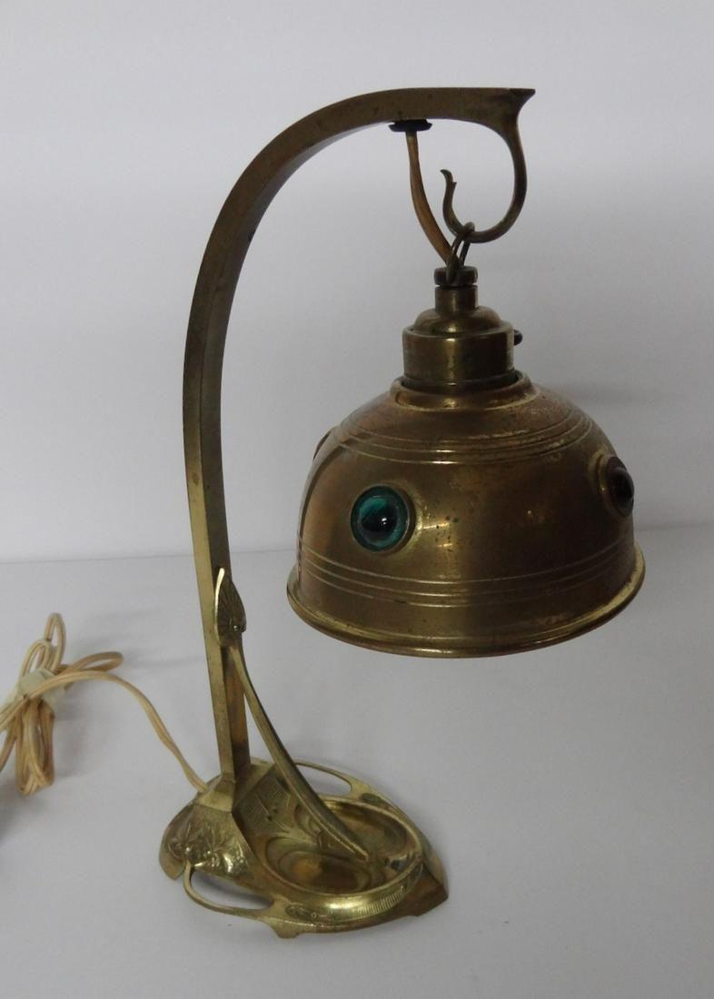 Jeweled Brass Desk Lamp