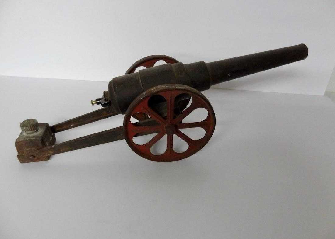 Large Cast Iron Toy Cannon