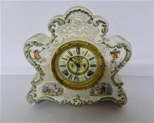 Large Ansonia China Case Clock