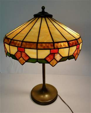 Victorian Stained Glass Table Lamp