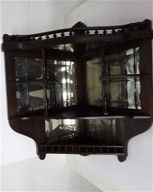 Large Ornate Eastlake Corner Shelf