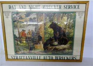 Wrecker Servise Sign for Strattervile Auto Wrecker