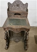 Rare Carved Anglo Indian Davenport Desk