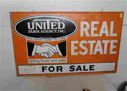 United Farm Agency Real Estate Sign Tin