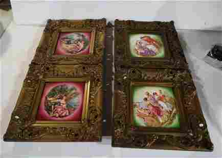 4 Matching Framed Tiles
