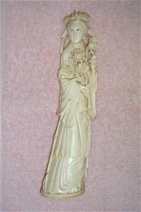 Carved Ivory Woman