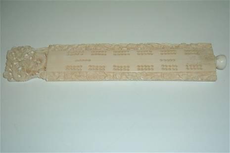 Carved Ivory Cribbage Board