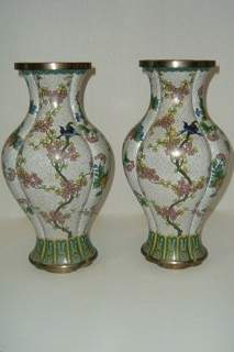 Two Large China Clossiene Vases
