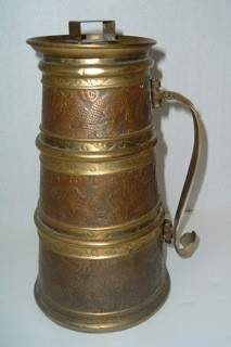 Early Handmade Copper, Brass, and Lead Tankard