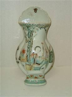 Early Asian Wallpocket Vase